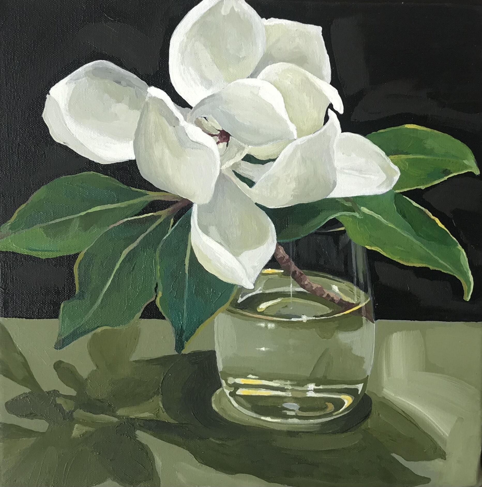 MINNIE TAYLOR quick painting magnolia